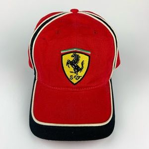 Ferrari Hat with adjustable size Velcro strap back